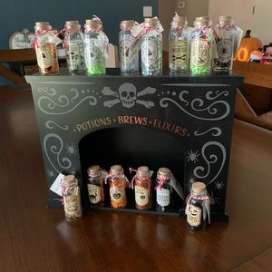 Complete Potion Set with Stand